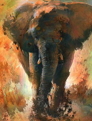 House Pet Digital Art - Elephant Jungle Dream by Yury Malkov