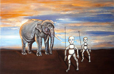 Painting - Elephant King by Chris Benice