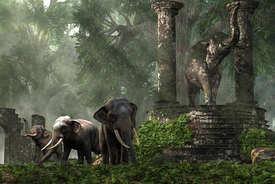 Animals Digital Art - Elephant Kingdom by Daniel Eskridge