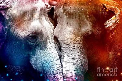 Ps I Love You - Elephant Love  by CreART Photography ELIZABETH BERUMEN