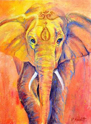 Wall Art - Painting - Elephant Memory by Paula Noblitt