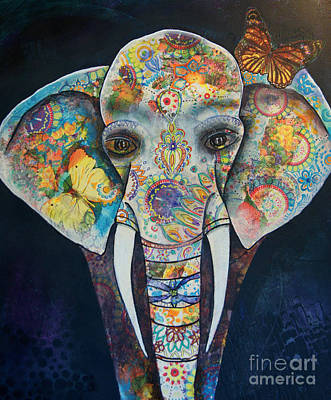 Painting - Elephant Mixed Media 2 by Reina Cottier