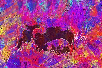 Digital Art - Elephant Mother And Baby by PixBreak Art