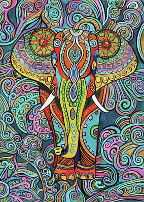 Elephant Mural  Original