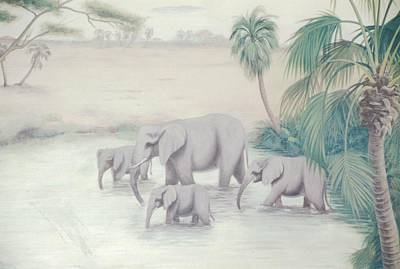 Painting - Elephant Oasis by Suzn Art Memorial