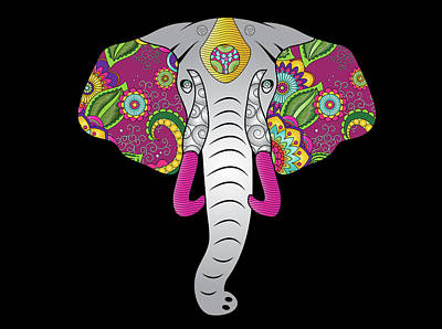 Digital Art - Elephant Power Animal by Serena King