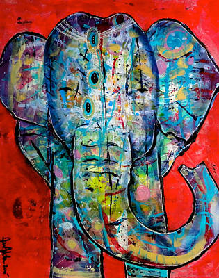 Elephant Redux Art Print by Jenn Ashton