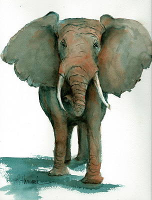 Painting - Elephant  by Rhonda Hancock