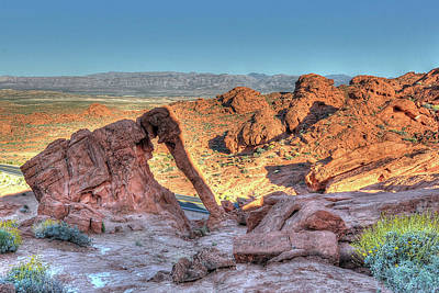 Elephant Rock - Hdr - Valley Of Fire Art Print