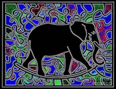 Rocker Drawing - Elephant Rocker Blua Blua by Peter Paul Lividini