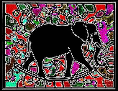 Rocker Drawing - Elephant Rocker Cinnamoni by Peter Paul Lividini