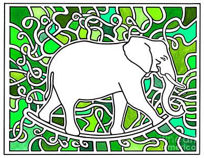 Rocker Drawing - Elephant Rocker Savannah by Peter Paul Lividini