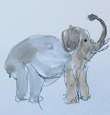 Mellow Yellow - Elephant Sketch by Samuel Zylstra