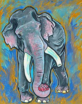 Elephant Spirit Dreams Art Print by Jenn Cunningham