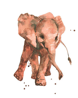 Baby Elephant Painting - Elephant Sway by Alison Fennell