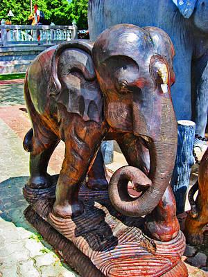 Elephant. Tree. Ancient Art. Original