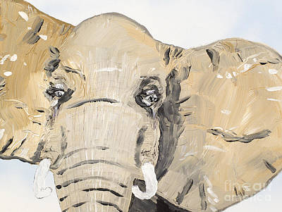 Painting - Elephant Up Close by Patrick Grills
