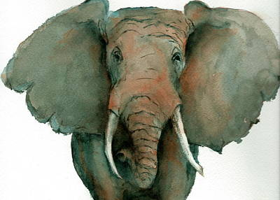 Painting - Elephant Up Close by Rhonda Hancock
