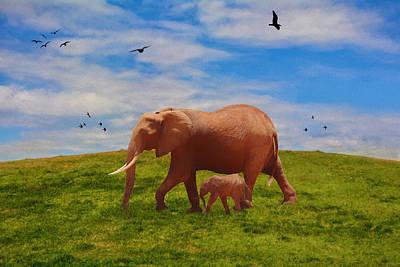 Painting - Elephant Walk - Painting by Ericamaxine Price