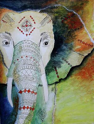 Painting - Elephantastic by Barbara Teller