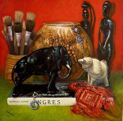 Elephants And Ingres Art Print