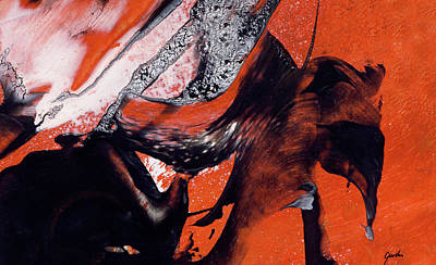 Painting - Elephants - Contemporary Abstract Art Painting by Modern Art Prints