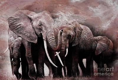 Elephants Group  Original
