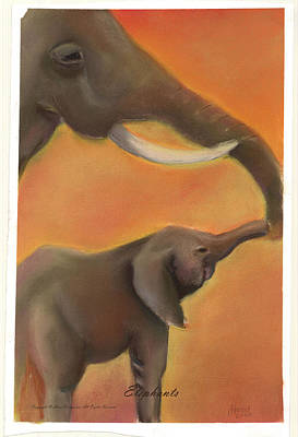 Print - Elephants by Lee Hood