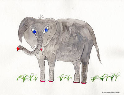 Painting - Elephoot And Friends by Helen Holden-Gladsky