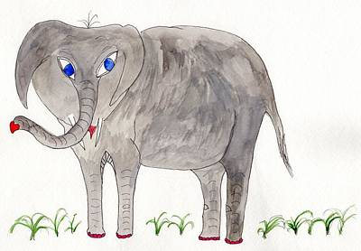 Painting - Elephoot by Helen Holden-Gladsky