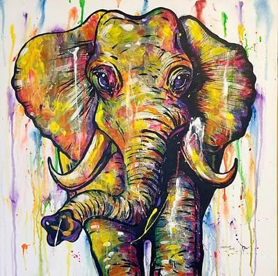Painting - Elephunk by Sandra Lett