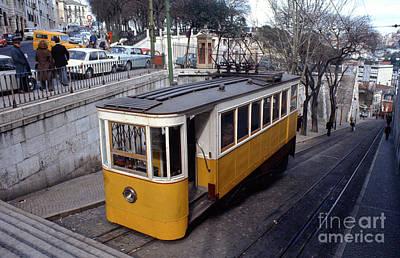 Photograph - Elevador Da Gloria Funicular, Lisbon, Portugal, 1950's  by Wernher Krutein