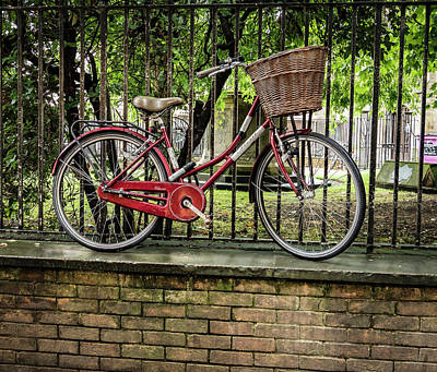 Photograph - Elevated Red Bike by Jean Noren