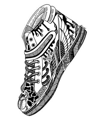 Drawing - Elevated Soles No.1 by Kenal Louis