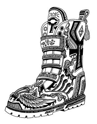 Drawing - Elevated Soles No.2 by Kenal Louis