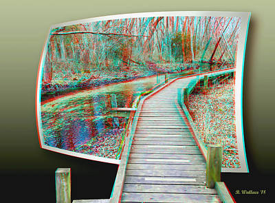 Mixed Media - Elevated Trail - Oof 3d Anaglyph by Brian Wallace