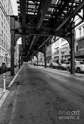 Photograph - Elevated Train Track The Loop In Chicago, Il by Patricia Hofmeester