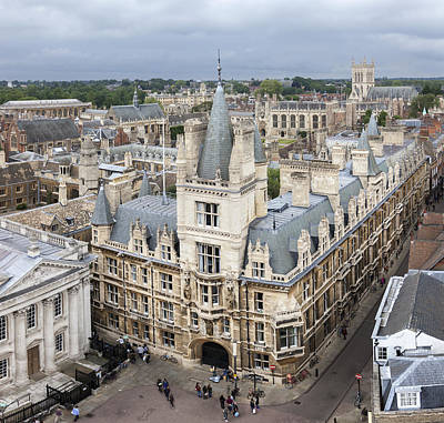 Photograph - Elevated View Of Cambridge by Gillian Dernie