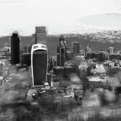 Digital Art - Elevated View Of London by Gillian Dernie