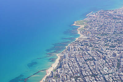 Airoplane Photograph - Elevated View Of Tel Aviv 1  by Vladi Alon