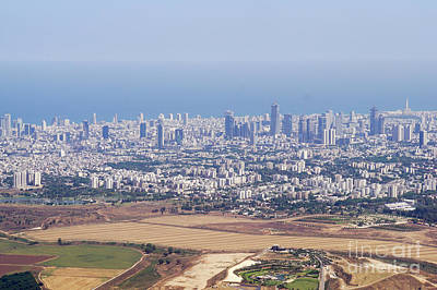 Airoplane Photograph - Elevated View Of Tel Aviv  by Vladi Alon