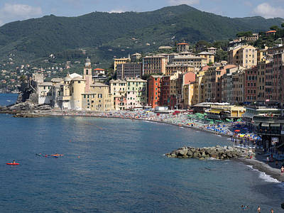 Elevated View Of The Camogli From Hotel Art Print
