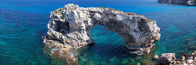 Cala Photograph - Elevated View Of The Es Pontas Natural by Panoramic Images