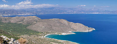 Agios Photograph - Elevated View Of The Gulf Of Mirabella by Panoramic Images