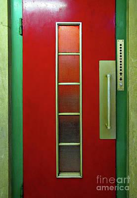 Photograph - Elevator Door  by Ethna Gillespie