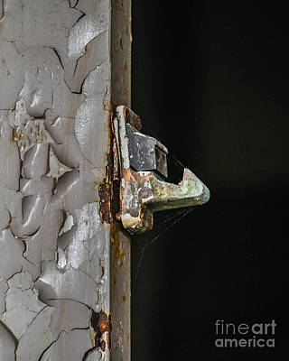 Photograph - Elevator Door Latch by Grace Grogan