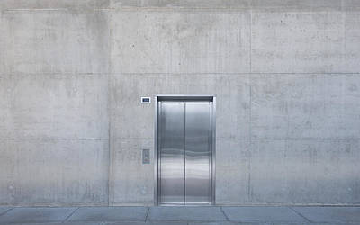 Cement Walkway Photograph - Elevator Into Building by Dave & Les Jacobs
