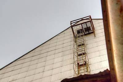 Photograph - Elevator Ladder by Jerry Sodorff