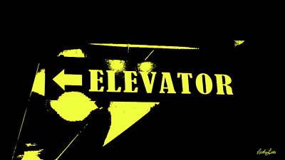 Photograph - Elevator Sign by Nathan Little