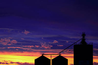 Wheat Silhouette Photograph - Elevator Silhouette by Todd Klassy